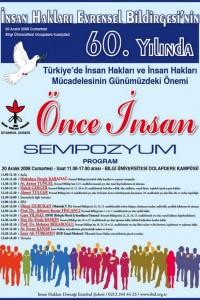 """İHD İstanbul Şubesi """"Önce İnsan"""" Sempozyumu"""