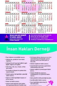 İHD İstanbul Şubesi 2009 Takvimi