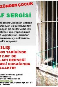 """İHD İstanbul Şubesi – """"Çocuğun Gözünden Çocuk"""" Fotoğraf Sergisi Afişi"""