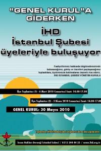 İHD İstanbul Şubesi – Üye Toplantıları Afişi