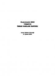2002 İnsan Hakları İhlalleri Raporu