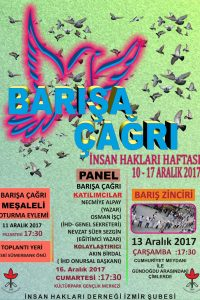 İHD İzmir Şubesi 2017 İnsan Hakları Haftası Etkinlikleri