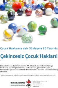 Çocuk Haklarına Dair Sözleşme 30 Yaşında! – Türkçe