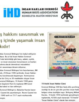 10-17 Aralık İnsan Hakları Haftası Bildirisi