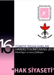 16. Türkiye İnsan Hakları Hareketi Konferansı Sonuç Bildirgesi