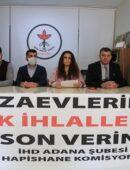 Çukurova Bölge Hapishanelerinde Yaşanan Hak İhlallerine İlişkin Ekim-Kasım-Aralık 2020 Tespit ve Değerlendirme Raporu